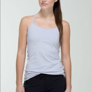 Lululemon power y tank Wee Stripe White Grey